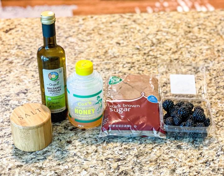 Ingredients for Blackberry Balsamic Glaze