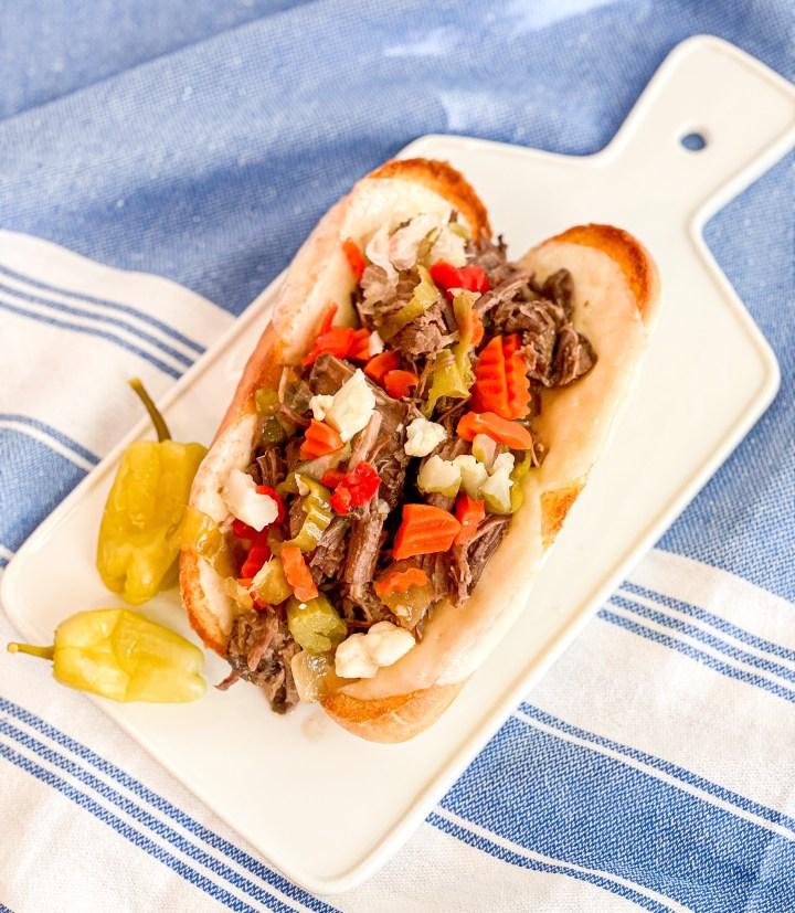 Slow Cooker Italian Beef Hoagies