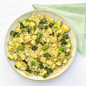 Grilled Lemon Herb Zucchini & Corn