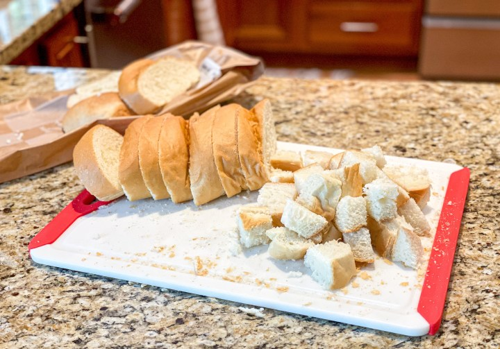 Cubed French Bread