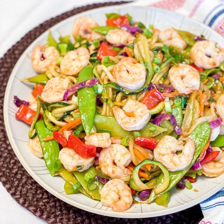 Zucchini Noodle Shrimp Stir Fry