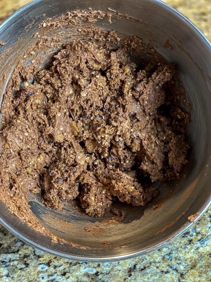 German Chocolate Crunch Cookies batter
