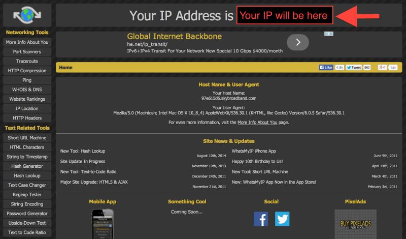 GA tutorial - find IP