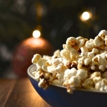 spiced orange popcorn christmas