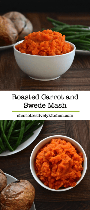 Roasting the vegetables really brings out the flavour in this carrot and swede mash recipe.