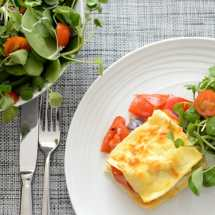 vegetable lasagne slice