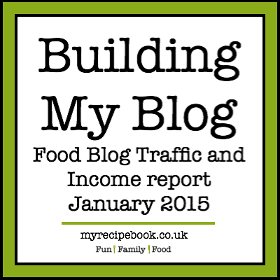 My Recipe Book - Food Blog Traffic and Income Report January 2015