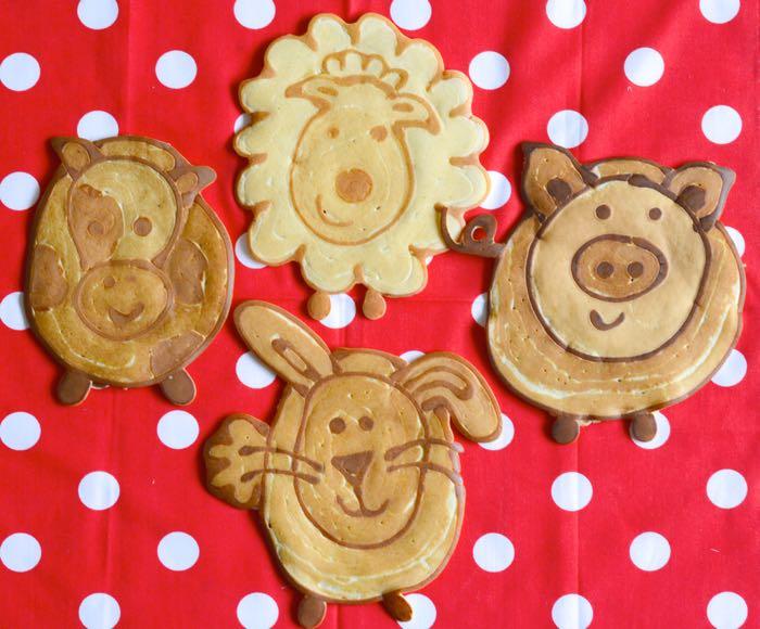 How to make farmyard animal pancakes