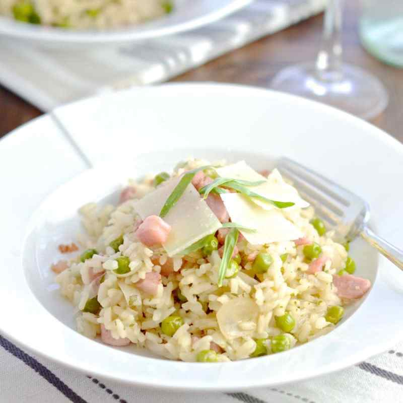 Pancetta, Pea & Manchego Cheese Risotto