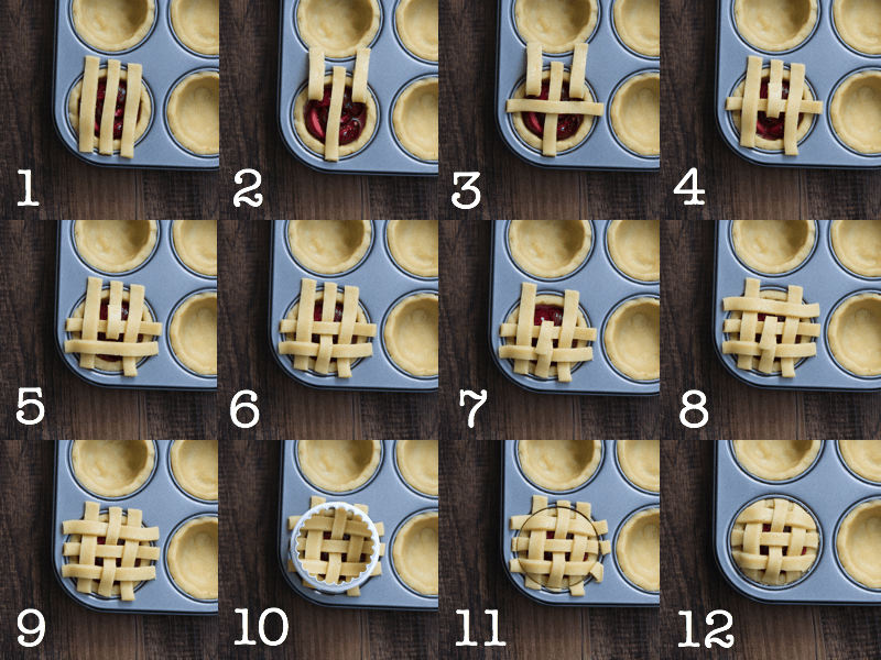 Step-by-step - how to make a lattice pie top.