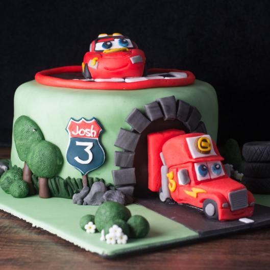 cars cake 1
