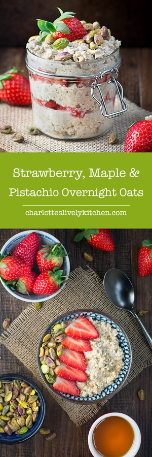 strawberry maple pistachio overnight oats pin