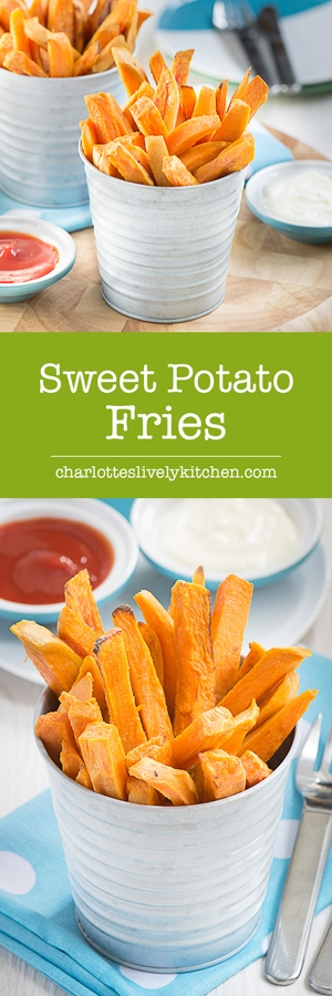 How to make healthy oven baked sweet potato fries. Crispy around the edges, soft in the middle and loved by all the family.