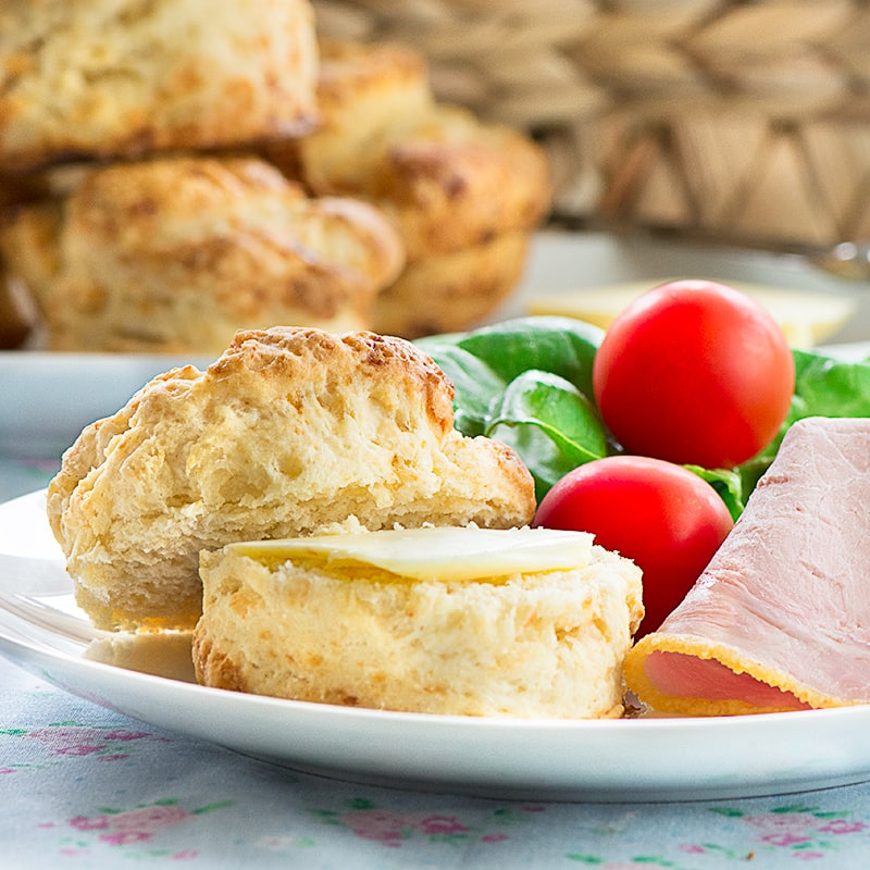 How to make really easy, and deliciously cheesy scones. Then once they're made, why not turn them into yummy scone-wiches, perfect for a picnic on a summer's day.