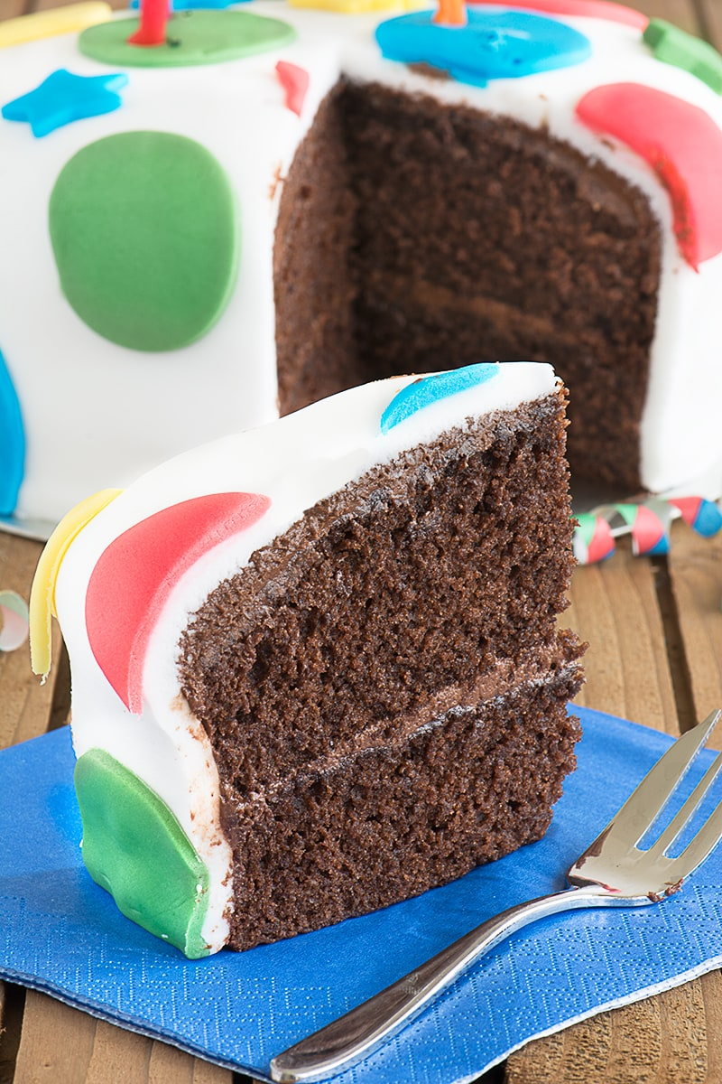 This chocolate birthday cake is simple to make, tastes delicious and is perfect for decorating for a special celebration.