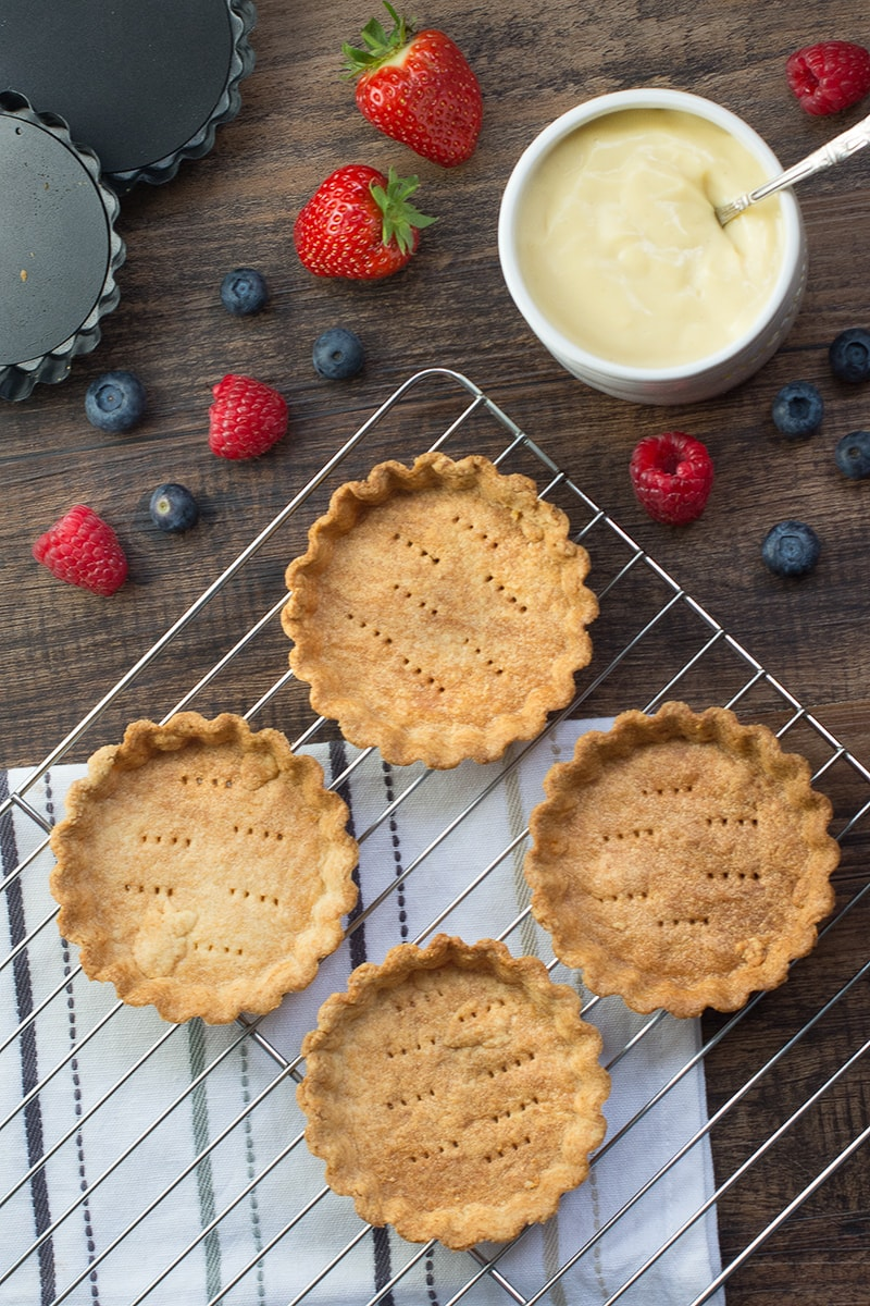 Crisp pastry cases perfect for a summer fruit tart.