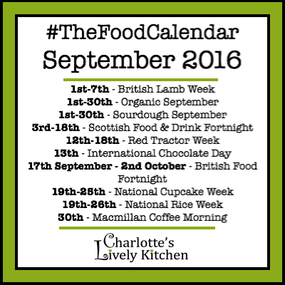 UK food days, weeks and months in The Food Calendar for September 2016