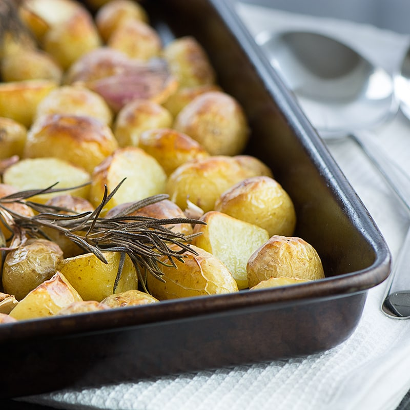 Roasted New Potatoes with Rosemary & Garlic | Charlotte's ...