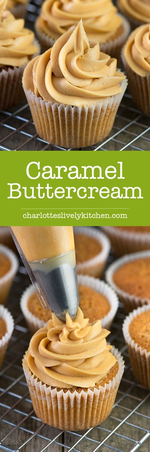 Easy to make delicious caramel buttercream in just a few minutes. Perfect for topping cupcakes, layer cakes or special celebration cakes.