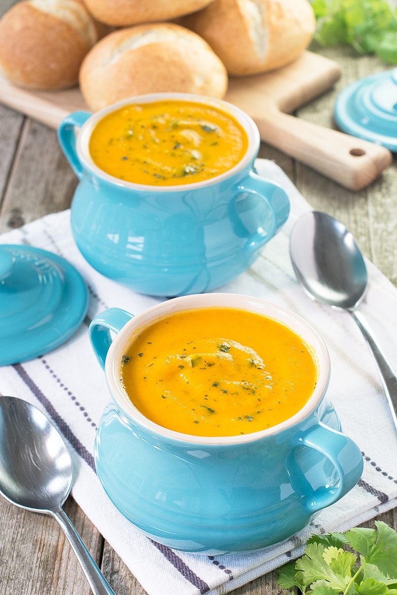 Using frozen vegetables in this easy homemade carrot and coriander soup means you can have a delicious, healthy meal with just a few minutes effort whenever you want.