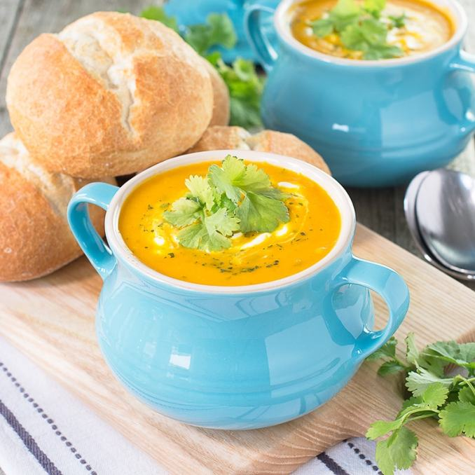 Easy Carrot & Coriander Soup | Charlotte's Lively Kitchen