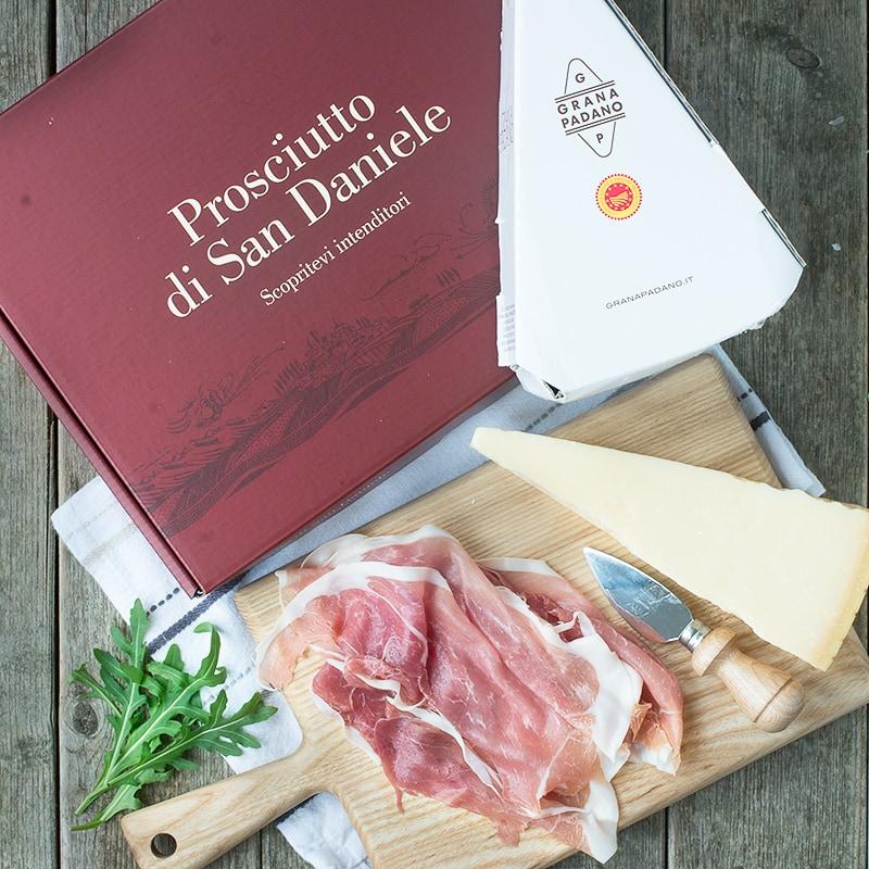 Hasselback potatoes stuffed with Grana Padano cheese, Prosciutto di San Daniele and wholegrain mustard.