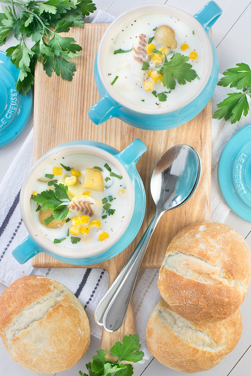 This smoked haddock and sweetcorn chowder is a complete meal in one bowl. It's really simple to make and using frozen ingredients means you've got everything to hand when you need it.