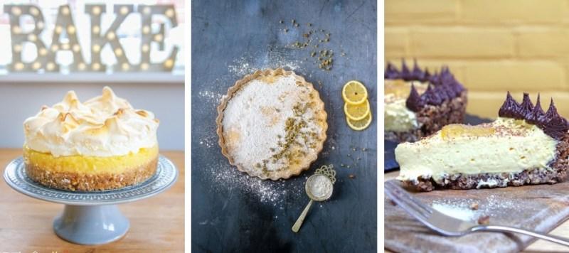 Gluten-Free Lemon Meringue Pie, Lemon & Chamomile Tart, Lemon & Ginger Tart
