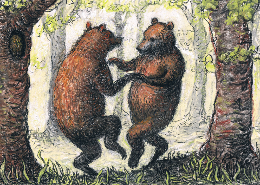 Dancing Bears by Artist Charlotte Steel