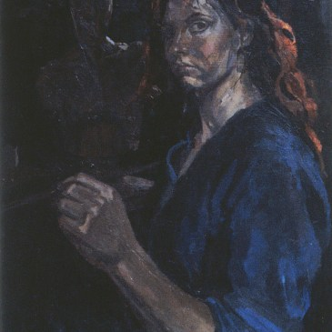 Artist Charlotte Steel Self Portrait
