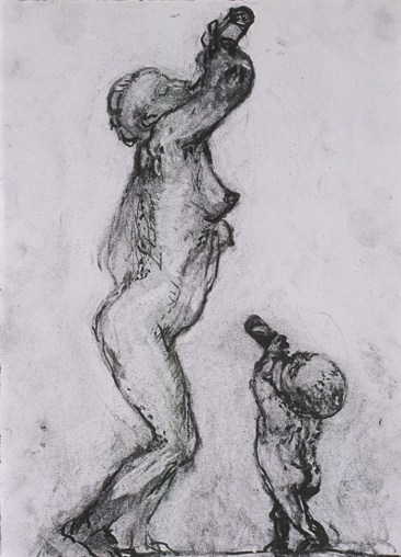 Mother and Child drawing by Artist Charlotte steel