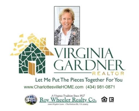 Charlottesville Area Realtor Virginia Gardner and Contact Info