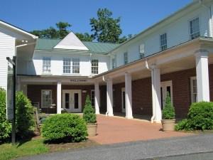 Main Entrance of Chestnut Grove Baptist Church in Earlysville VA