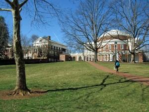 view of UVA Rotundra and Campus