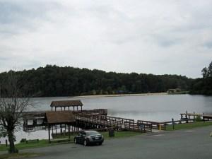 Chris Greene Lake Park Fishing Pier in Earlysville VA