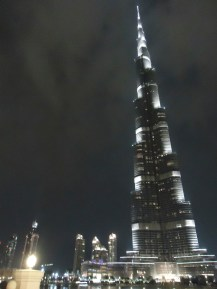 The Burj Khalifa, the world's tallest building. This was my view from dinner. Not too bad.