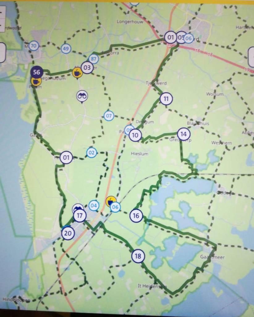 Fietsroute Friesland