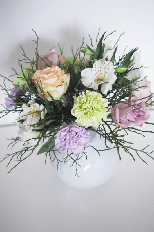 Friske blomster på en fredag