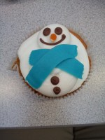 A lovely snowman bun from the cafe, which suited our stall well!