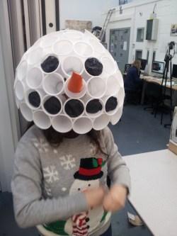 Charlotte the dancing snowman!