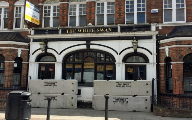 The White Swan on Thursday afternoon