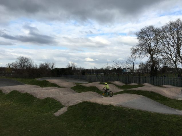 A near-deserted Hornfair Park BMX track on Sunday afternoon (photo: Clare Griffiths)