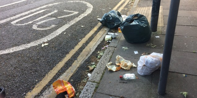 Rubbish in Victoria Way, Jul 2016