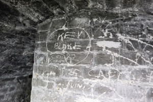 Graffiti in the undercroft of Charlton House's Summer House