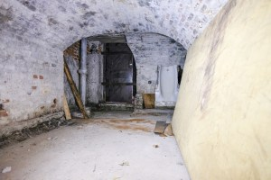 The basement of Charlton House's Summer House - formerly an air raid shelter