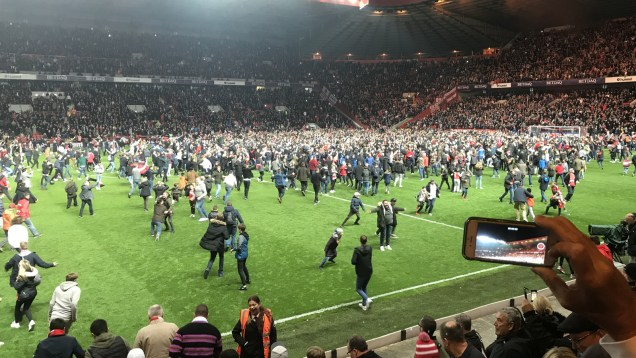 Valley pitch invasion