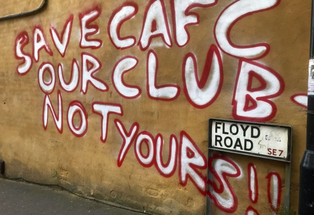Floyd Road graffiti - Save CAFC, our club, not yours!