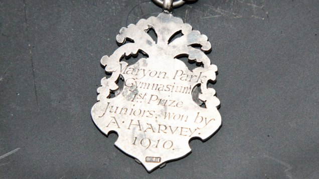 Medal with inscription on rear