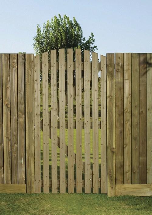 Orchard wooden slatted side gate