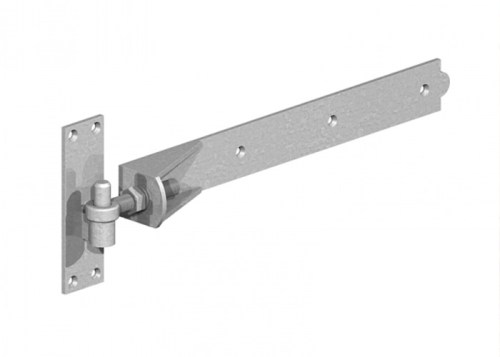 One way adjustable gate hinge